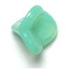 Glass Bead Bell Flower 10x12mm Green Aqua Opal - Strung
